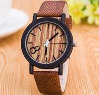 Ladies Raw Wood Mode Montre bracelet en cuir Original Designer Brand Unisexe Smart Style de la robe Young Girl Men PU Rubber Bracelet Montres Cadeau