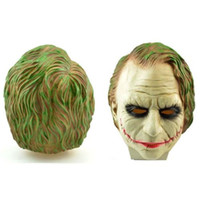 Wholesale High Quality Batman Mask - New Scary Joker Batman Dark Knight Movie Mask Resin Halloween High Quality Props