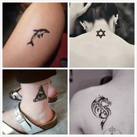 Wholesale Men Cross Tattoos - Tattoo sticker, waterproof and sweat proof, man and woman, lasting tattoo, flower arm, wolf totem, cross letter, tattoo stick