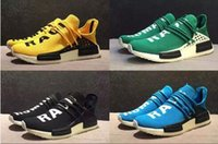 Unisex blue borders - 2017 Hot Sale Human Race Pharrell Williams X NMD Sports Casual Shoes High Quality Cheap Outdoor Boost Training Sneaker