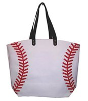 Baseball noir blanc jaune Blanks Cotton Canvas Softball Fourre-tout Baseball Football Bag Soccer Bag avec Hasps Fermeture Sports Bag