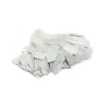 string preis etikett papier preisschilder großhandel-Big Sale New Schmuck Display Preisschild White String Tie-on Preisschild White Blank Paper Preisschild Label