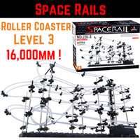 Big Kids space rollers - SpaceRails Space Rail Mini marble Roller Coaster with Steel Balls Level Game mm Rail DIY Educational kit Puzzle Toys PCwholesale