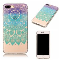 Wholesale Iphone 5c Cases Animals - Case For iPhone 5c 5S SE 6 6S 7 Plus Ipod Touch 5 Samsung Galaxy S8 Transparent Soft TPU Gel Flower Animals Cover