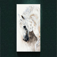 Wholesale Floral Home Decor Canvas - Modern White Horse Head painting picture abstract art print on the canvas,vintage animal canvas poster painting print,wall Home decor poster