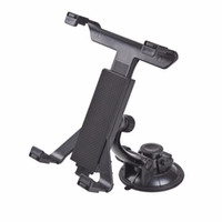 Wholesale headrest mount for tablet - Wholesale- New Universal PC GPS Car Windshield Back Seat Headrest Table Mount Tablet Holder For iPad 2 3 4 5 Tablet Stand Black Wholesale