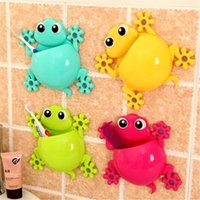 Sucker Soporte para el cepillo de dientes Cute House Lizard Molding Multi Function Almacenamiento Rack Home Furnishing Shower Room Decorar 2 5ll J