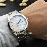 Wholesale Aqua Clone - Super Clone Brand Luxury 007 AQUA TERRA 150M Co-Axial Automatic Mens Watch 231.10.42.21.00.005 White Dial Stainless SteeL Strapl New Watches