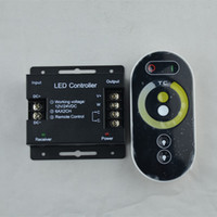Wholesale rf controller 12v for sale - Group buy RF Bar Light Dimmer DC12 V touch Remote Control Double Color Lamp Controller for Led Strip light