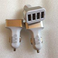 Wholesale Aluminum Amp - Aluminum alloy 4 USB Ports Car Charger Universal 12 Volt   1 ~ 2 Amp for Apple iPhone iPad iPod   Samsung Galaxy   Motorola Nokia Htc