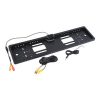 Wholesale camera car license plates night - Wired License Plate Frame Car Auto Rear View Backup Camera Night Vision Reverse Parking Camera