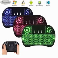 Wholesale Andriod Tv Box Keyboard - Mini i8 Fly Air Mouse 2.4G Wireless Gaming Backlit Keyboard Remote Controls With Backlight Touchpad for Andriod TV Box