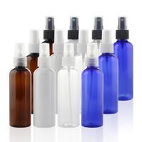 atomizer sprey parfüm şişeleri toptan satış-Yeni 100 ml Şeffaf sprey şişesi kozmetik plastik boş su şişeleri, mini atomiser spreyler Parfüm Şişesi F0014