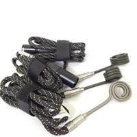 Wholesale heat nails online - Coil Heater for electric Dab nail dab kit Kavlar heating coil flat mm mm mm fit for quartz Titanium nails