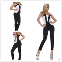 Wholesale Club Offers - 2016 New Special Offer Polyester Skinny Bodycon Jumpsuit Enteritos Mujer 2017 Ladies Women's Sexy Jumpsuit Party Club Casual Black N185