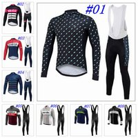 Wholesale Bibs For Men - 2017 Morvelo Long Sleeves Cycling Jerseys Set With Gel Padded Bib Pants Autumn Style For Men Bike Wear Size XS-4XL 8 Colors