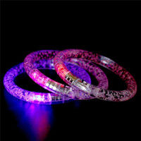 Wholesale Led Crystal Gifts - Hot LED bracelet light up flashing Glowing bracelet Blinking Crystal bracelet Party Disco Christmas Gift in stock