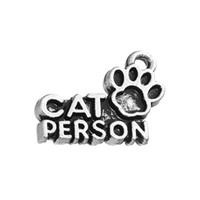 Wholesale Wholesale Pawprint Jewelry - CAT PERSON With Pawprint Fashion Charm DIY Necklace&Bracelet Jewelry 20pcs lot Zinc Alloy Antique Silver Plated