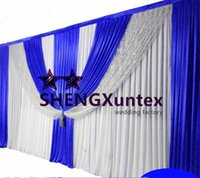 Wholesale Beautiful Curtains - Beautiful Look Wedding Backdrop Curtain \ Stage Background Include The Swag And Sequin Fabric