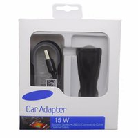 Wholesale Car Charger Packing - 2 in 1 Adaptive Fast Charging Rapid Car Charger+1M Cable for Samsung s7 s7 edge s8 s8 Plus With Retail Packing Box