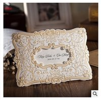 Wholesale Gold Embossed Wedding Invitations - Wholesale- 1 sample red ang gold Shiny Embossed Pattern printing Wedding Invitations Cards with Envelopes and Seal, Wholesale Available