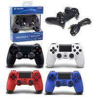 jeu vidéo ps4 achat en gros de-PS4 contrôleur de jeu sans fil pour PlayStation 4 PS4 contrôleur de jeu Gamepad Joystick Joypad pour jeux vidéo DHL livraison gratuite