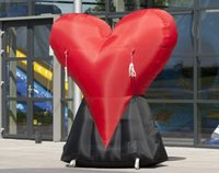 Balloon 3m H Or Customized Valentineu0027s Day Decoration Oxford Fabric Giant  Inflatable Heart For Valentineu0027s Decorations