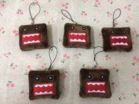 Wholesale Mini Domo Plush - wholesale 40pcs.lot 5cm DOMO Plush Stuffed TOY , gift mini domo Plush DOLL , Key Chain ropes Wedding Gift Bouquet TOY