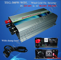 Wholesale Wind Turbines Inverter - Home wind grid tie inverter 300w dc to ac wind turbine generator input 22-60v dump load controller protection