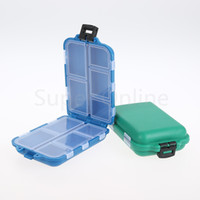 wholesale fly fishing lure 2018 - Wholesale- 1pcs 9.5cm*6cm*3cm 10 Compartments Fly Fishing Lure Spoon Hook Bait Tackle Box Storage Case Holder Fishing Accessories