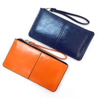 Wholesale Bright Candy - Fahion Zipper Clutch Bag Wallets Holders Woman Credit Card Package Brand Candy Casual Multi-card bit Ladies Coin Purse Bright Patent VKP1447