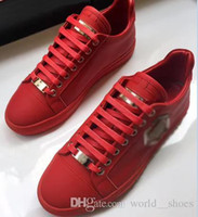 Wholesale Red Lace Material - TOP QUALITY MODEL17095 MEN SHOES HIGH QUALITY LEATHER PP MATERIAL OF SOLE SHOES EU38-45 SIZE FREE SHIPPING
