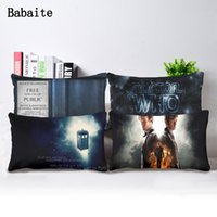 Wholesale Hospital Setting - Wholesale- Pillow Case Babaite New Stylish Doctor Who Bedding Set Two Side Pillow Cover Rectangle Throw Pillowcase Zippered Cover
