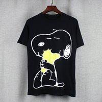 Wholesale Boys Shirt Pockets - NEW 2017 New Fashion snoopy gg T-shirts Men WOMEN Cartoon Anime T Shirt O Neck Short Sleeve Tops Cotton T-shirt Boy Girl Funny Tshirt