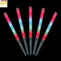 Wholesale Cotton Candy Party - 1.75*28Cm Cotton Candy Stick Flash 4 LED Cotton Candy Glo Cottons Glo Cones Threaded Flash Bar Party Supplies
