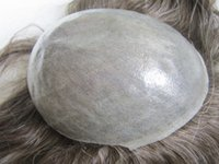 Wholesale human hair toupee for men - Human hair toupees brazilain remy light brown nixed grey color men toupee hair replacement straight toupee for men free shipping