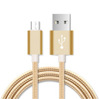 Wholesale Durable Iphone Charger - Micro usb cable Nylon Braided Durable 2A High Speed Charge USB Data Cable For Android smartphone 1m 2m charger cables