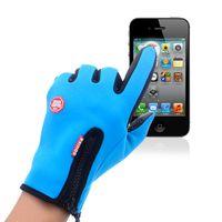 ветрозащитные перчатки оптовых-Открытый сенсорный экран перчатки, мужчины и женщины восхождение все относится к езде движение зимы водонепроницаемый ветер доказательство теплоизоляция