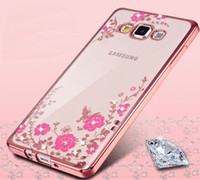 Wholesale Butterfly S6 - Butterfly Secret Garden Bling Diamond Plating Transparent Clear TPU Protective Cover Case For Samsung Galaxy S5 S6 S7 edge S8