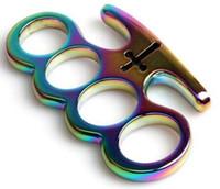 nuevos cuchillos de mesa al por mayor-Caliente MAFIA CARDINAL VENGANZA HEBILLA BRONCE DUSTER NUEVO EQUIPO de autodefensa Cuchillo mariposa nudillo cuchillos herramienta de autodefensa