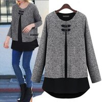 Wholesale Coat Pregnant Women - New Winter & Spring Pregnant women jacket winter clothes large size Korean fashion sweater coat maternity woolen coat shirt