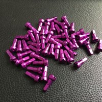 Wholesale Bmx Spokes - 100pcs Pillar Alloy Nipple 14mm 2.0 alloy spoke nipple pillar 14G*14MM