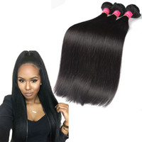 kaliteli insan saçı örgü toptan satış-Malezya Bakire Saç Uzantıları İnsan Saç Dokuma 3 4 5 Adet / LotStraight Saç Örgü Demetleri Kaliteli Yok Dökülme 8-28 inç Mevcut