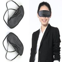 Wholesale Eye Masks Wholesale - 50 Pcs Lot Gift Travel Sleeping Eye Mask Black Shade Blindfold Eye Patch Night Economic free shipping JKE0004