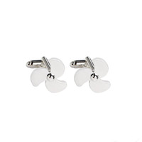Wholesale Wholesale Boat Propellers - 1 Pair Ships Propeller Cufflinks Novelty Ship's Sailor Nautical Propellor Boat Yachtsman Mens Shirt Aviation Jewelry French Cufflinks