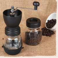 Cheap CG01-1, free shipping,Ceramics coffee bean grinder with canister set,coffee grinder,hand Grinding machine,Manual coffee grinder
