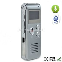 Wholesale Activate Steels - Wholesale-Russian Language Rechargeable 8GB Voice Activated Steel Digital Audio Voice Recorder Dictaphone Telephone MP3 storage Silver