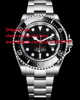 Wholesale New Style High Quality Watch mm Ref Red SEA th Anniversary Date Stainless Steel Ceramic Bezel Mechanical Automatic Mens Watches