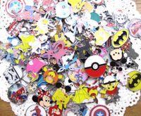 Wholesale New Cartoon Earrings - mix New 50 pcs Cartoon Spider-Man princess Japanese anime Metal Charms Jewelry Making Pendants Earrings AT99