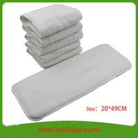 Wholesale Diaper Adults Wholesale - Free Shipping 4 Layers Microfiber Adult Diaper Insert Super Water Absorbable Diapers Insert For Adult Unisex 5pcs lot